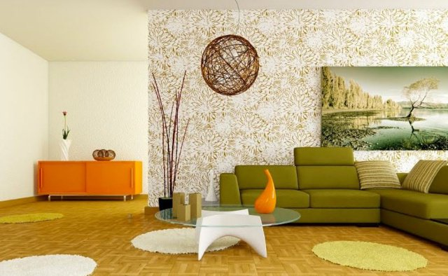 Les ann es 70 reviennent en force dans la d coration Wallpaper and paint ideas living room